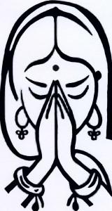 femme indienne en priere