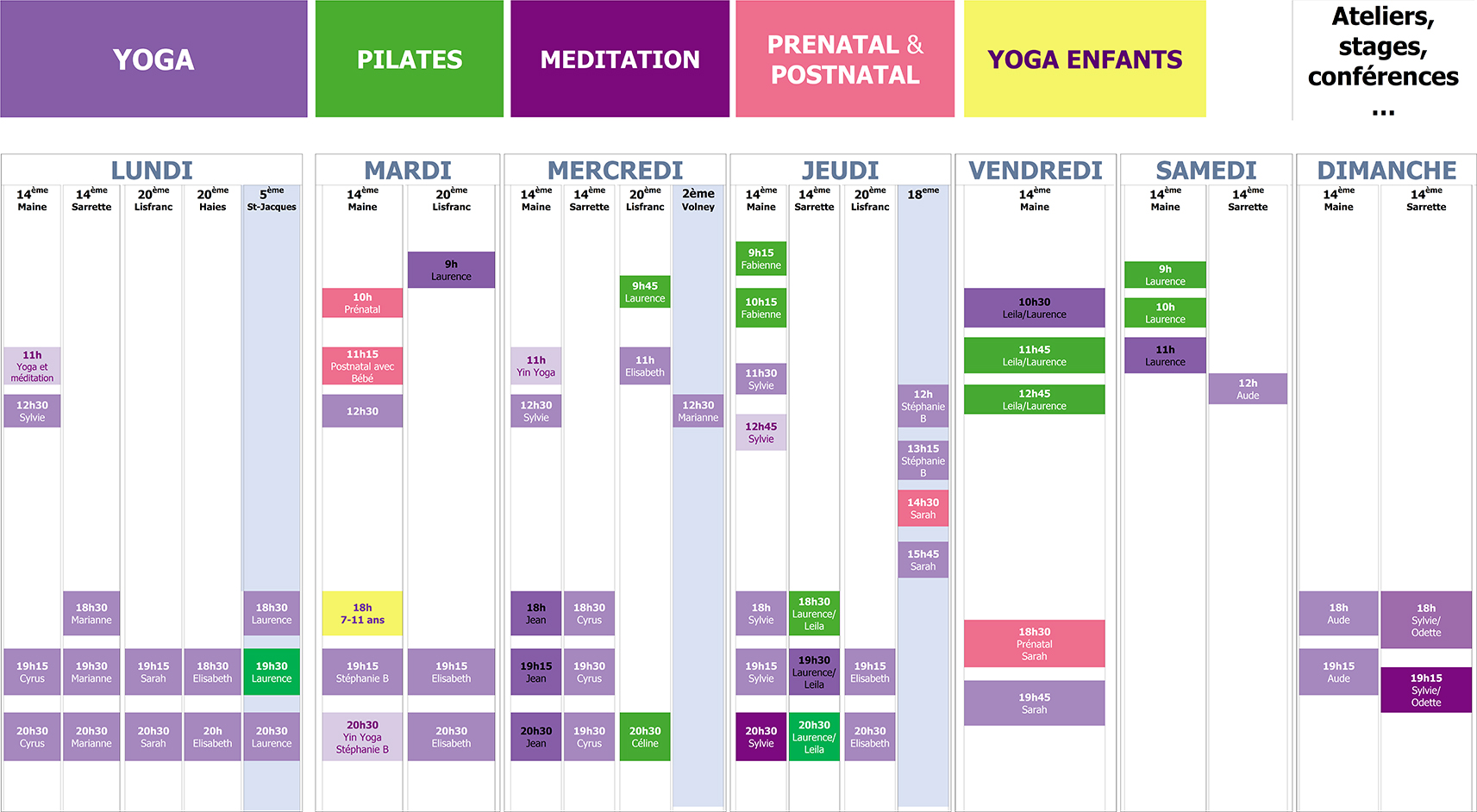 Planning 75 yoga pilates
