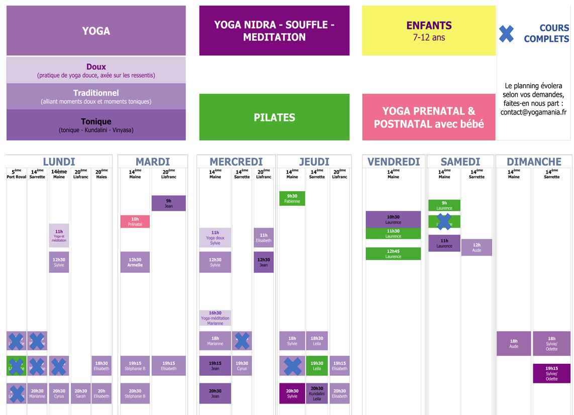 Planning 75 complet